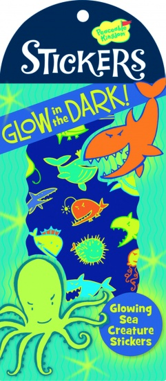 Peaceable Kingdom Glow in The Dark Stickers Zeeleven