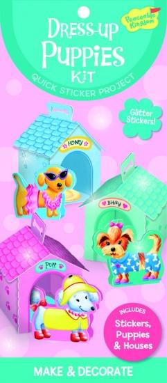 Peaceable Kingdom Sticker Kit Dress Up Puppies