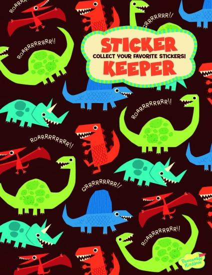 Peaceable Kingdom Stickerboek Groot Dino 16 Bladzijden