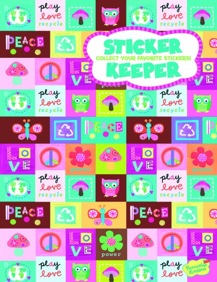 Peaceable kingdom stickerboek peace love 16 bladzijden 74213