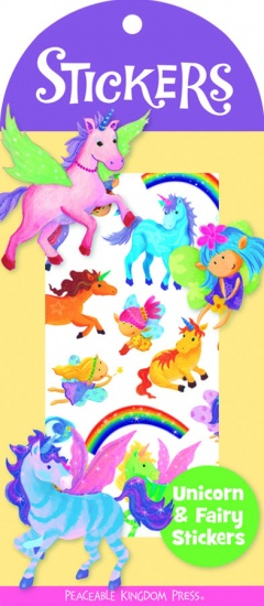 Peaceable Kingdom Stickers Eenhoorn en Fee 36 Stuks