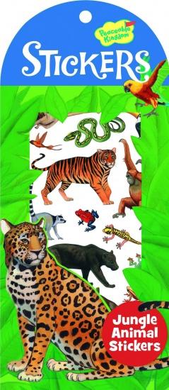 Peaceable Kingdom Stickers Jungle Dieren 34 Stuks