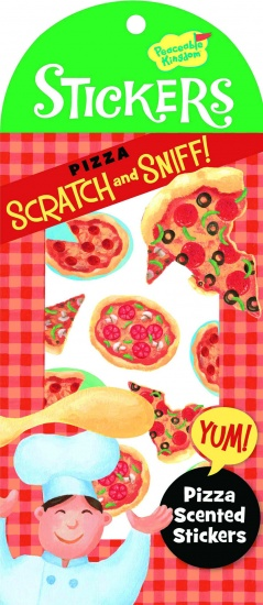 Peaceable Kingdom Stickers Scratch & Sniff Pizza