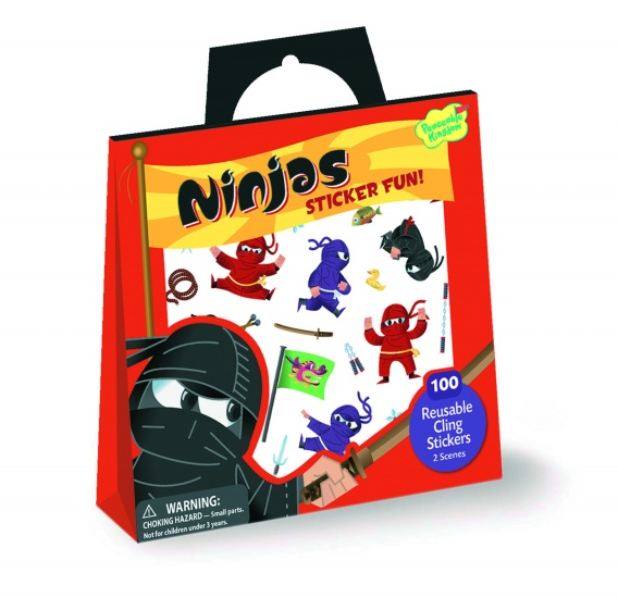 Peaceable Kingdom Stickertasje Ninjas