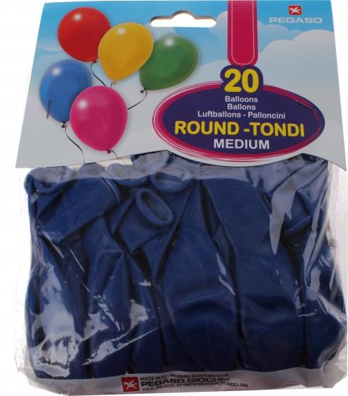 Pegaso ballonnen 28 cm donkerblauw 20 stuks