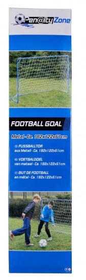 Penalty Zone Voetbaldoel blauw 182 x 122 x 61 cm
