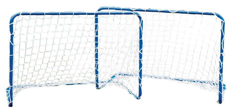 Penalty Zone set voetbaldoelen 78 x 56 x 45 cm blauw
