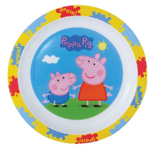 Peppa Pig bord kunststof 22 cm wit