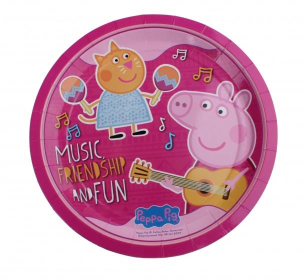 Peppa Pig bordjes 23 cm roze 6 stuks