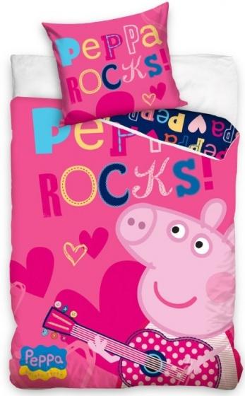 Peppa Pig dekbedovertrek rocker 140 x 200 cm roze