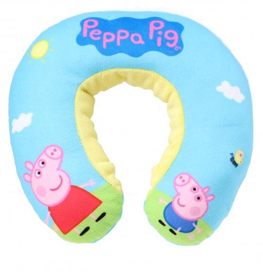 Peppa Pig nekkussen Peppa junior pluche blauw 22 cm kopen