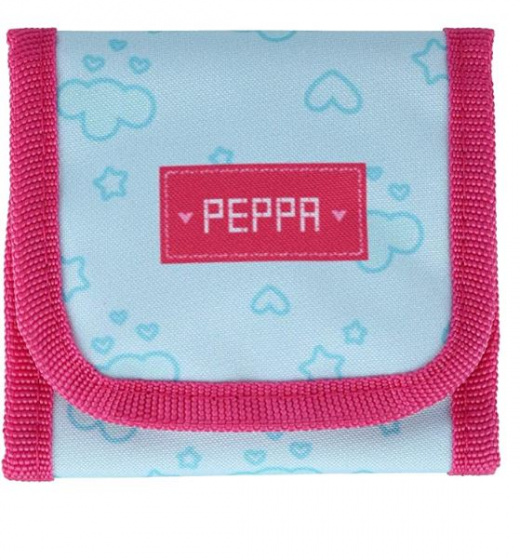 wallet Peppa Pig 10,5 cm polyester blue/pink