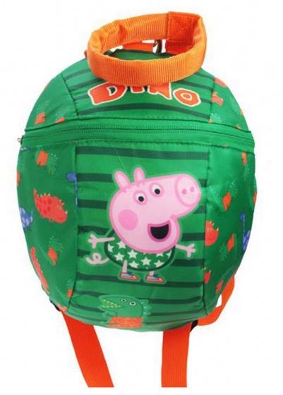 Peppa Pig rugtas met teugel George dino groen 2,5 liter