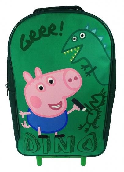 Peppa Pig trolley rugzak George Dino groen 12,5 liter