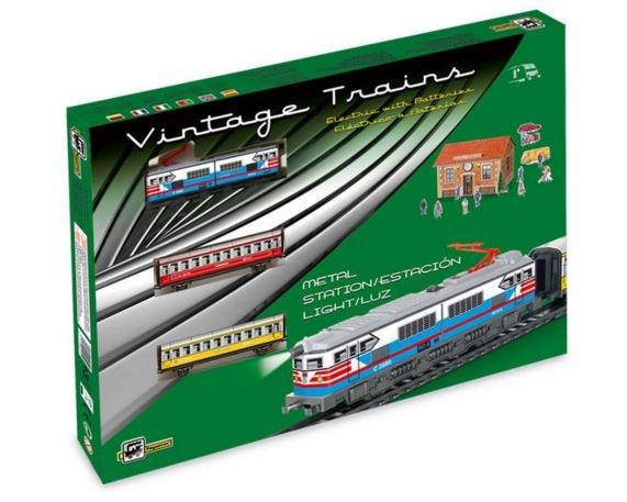 Pequetren Startset batterij 302 Classic passagiers trein
