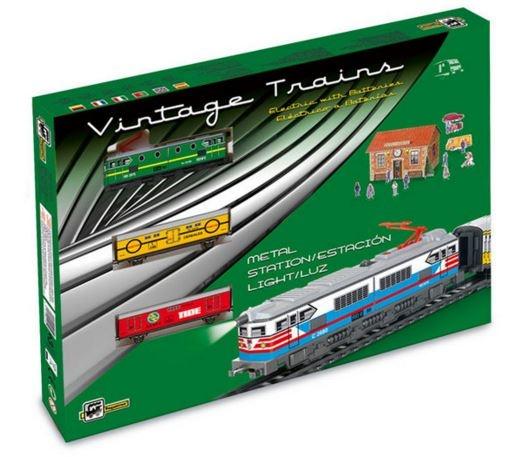 Pequetren Startset batterij 303 Classic goederen trein