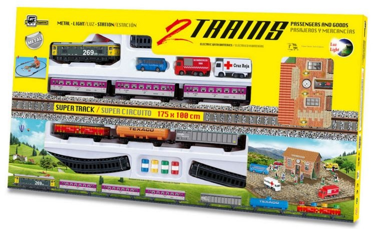 Pequetren Startset batterij 900 Classic 2 trains