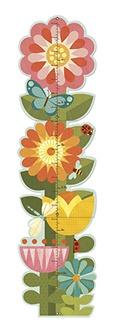 Petit Collage groeimeter bloementuin van 40 tot 135 cm