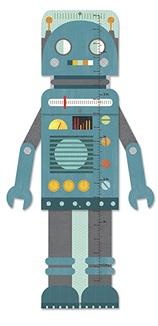 Petit Collage groeimeter robot van 40 tot 135 cm