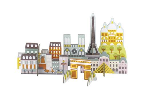 Petit Collage pop out deluxe 3D Parijs 16 delig