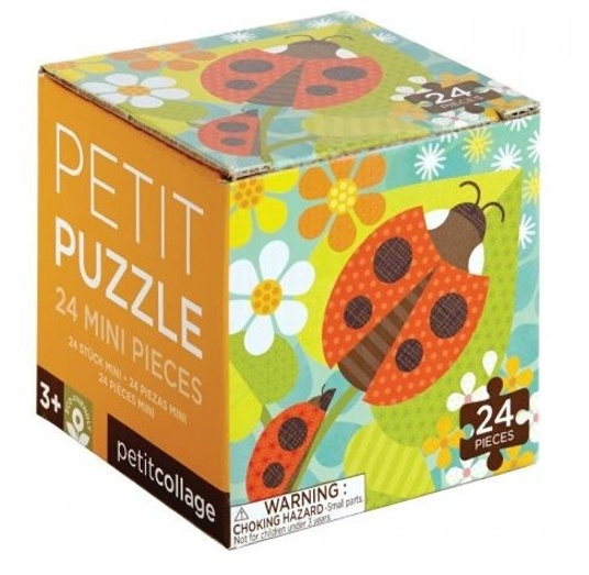 Petit Collage Puzzel lieveheersbeestje 24 delig