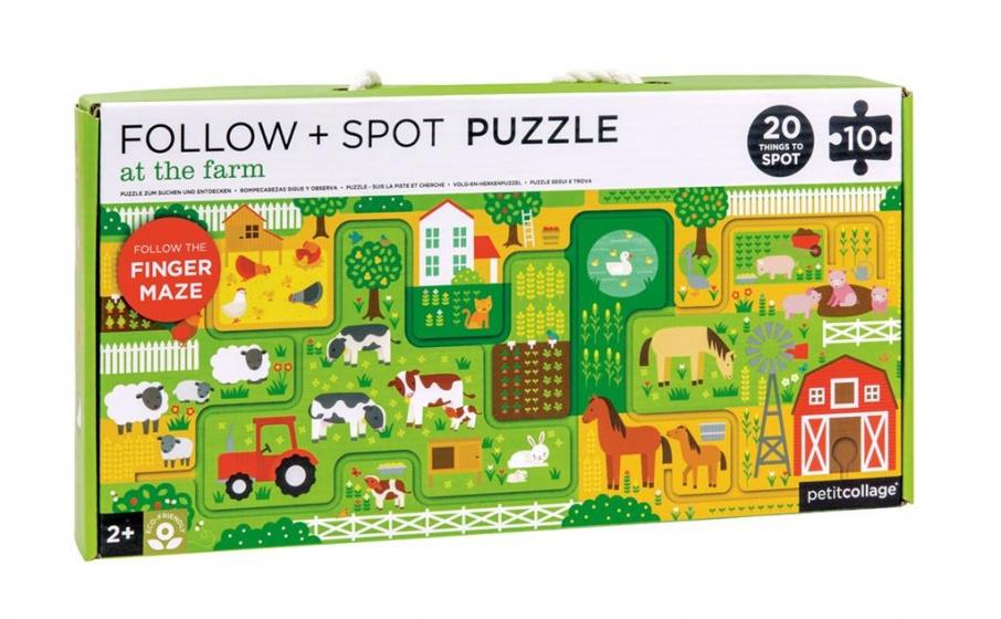 Petit Collage puzzel & spel boerderij 10 stuks