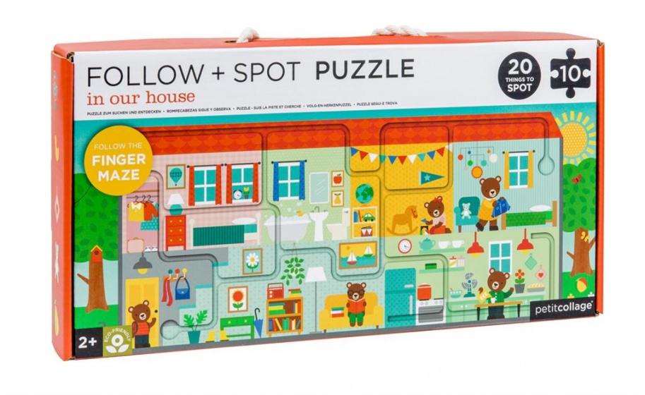 Petit Collage puzzel & spel huis 10 stuks