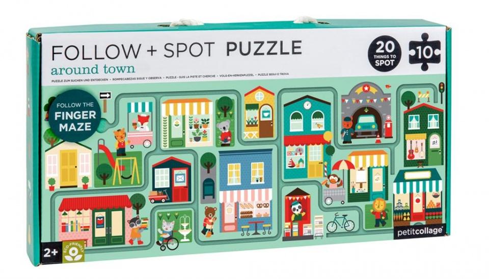 Petit Collage puzzel & spel stad 10 stuks