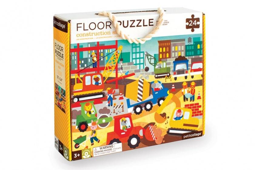 Petit Collage Vloerpuzzel bouwwerf 24 stukjes