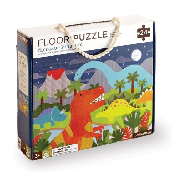 Petit Collage Vloerpuzzel dinosaurussen 24 delig