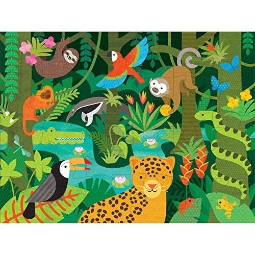 Petit Collage vloerpuzzel het wilde regenwoud 24 delig