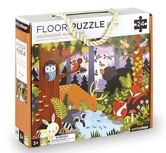 Petit Collage vloerpuzzel in het box 24 delig