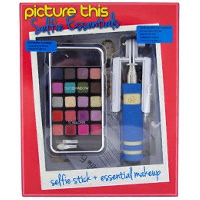 Picture This Selfie Essentials selfiestick + make up blauw