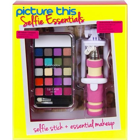 Picture This Selfie Essentials selfiestick + make up roze