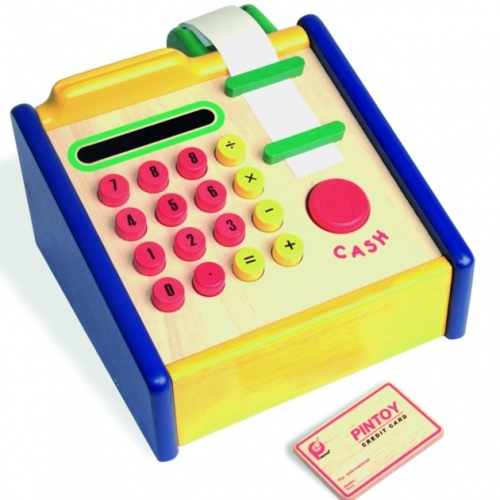 Pintoy Houten Cash Register Kassa