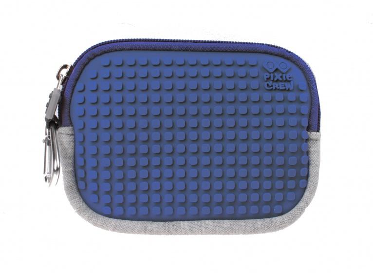 Pixie crew opbergtasje met siliconen paneel 15 cm grijs/blauw kopen