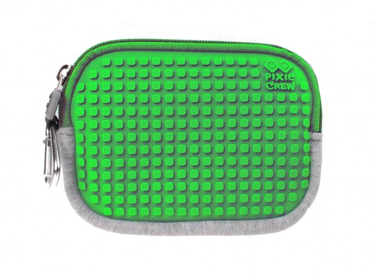 Pixie crew opbergtasje met siliconen paneel 15 cm grijs/groen kopen