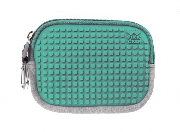 Pixie crew opbergtasje met siliconen paneel 15 cm grijs/turquoise kopen