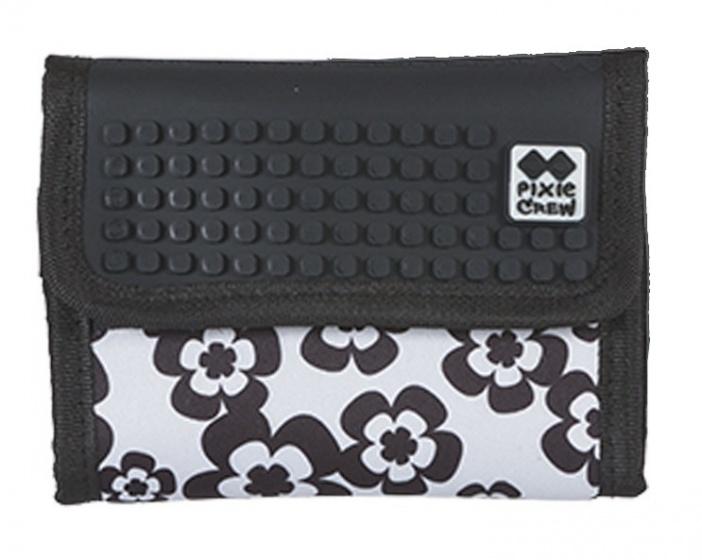 Pixie crew portemonnee met paneel 13 cm zwart/wit