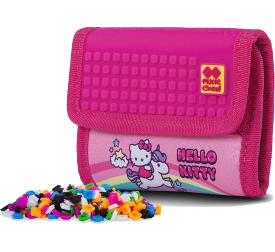 f309e3f1321 Pixie crew portemonnee met pixels Hello Kitty 13 cm roze