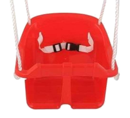 baby swing seat red 35 x 31 cm