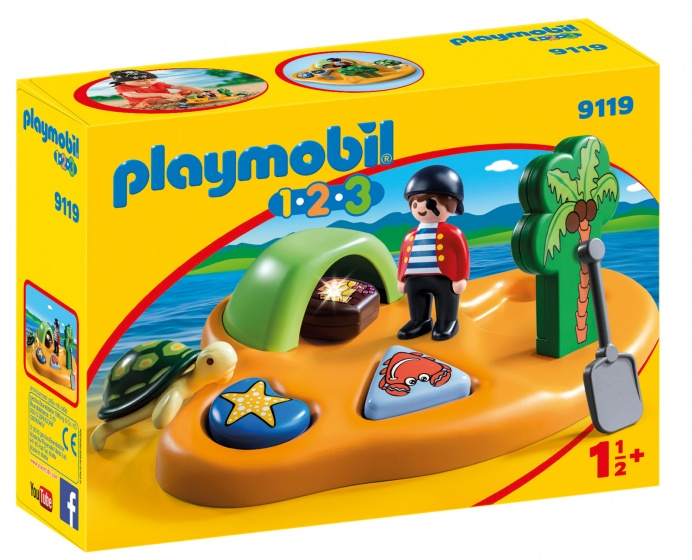 PLAYMOBIL 1,2,3: Pirateneiland (9119)