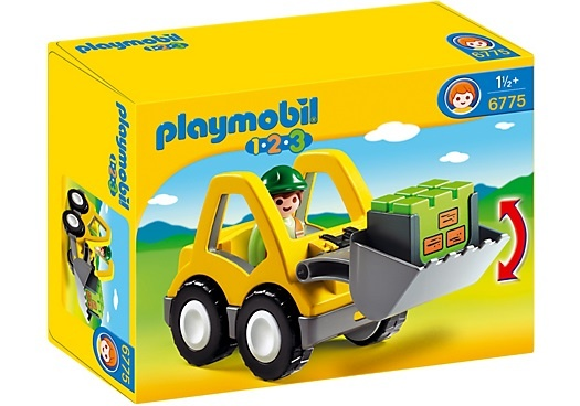PLAYMOBIL 1, 2, 3: Graafmachine met werkman (6775)