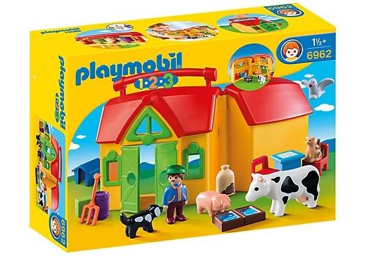 PLAYMOBIL 1, 2, 3: Meeneemboerderij met dieren (6962)