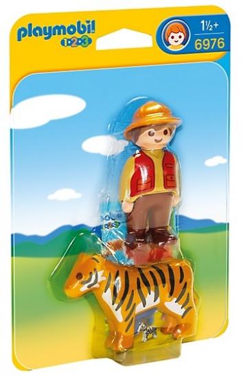 PLAYMOBIL 1, 2, 3: Ranger met tijger (6976)