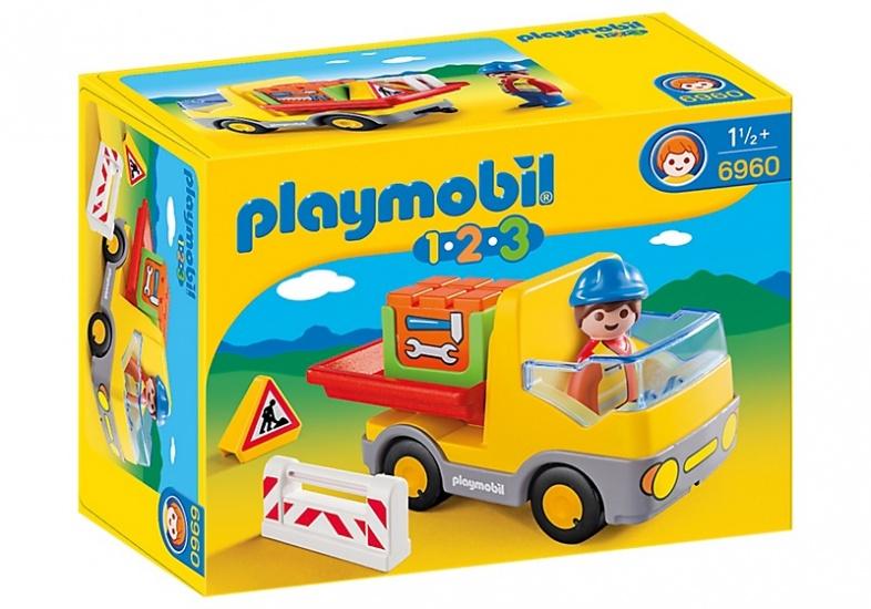 PLAYMOBIL 1, 2, 3: Vrachtwagen met laadklep (6960)