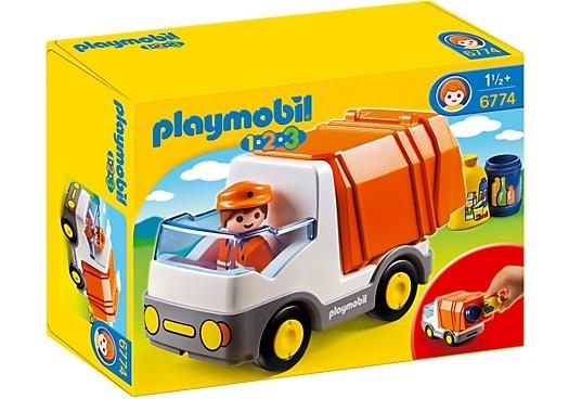 PLAYMOBIL 1, 2, 3: Vuilniswagen (6774)