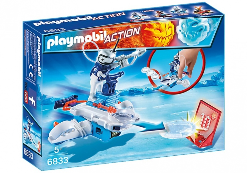 PLAYMOBIL Action: Icebot met Disc Shooter (6833)