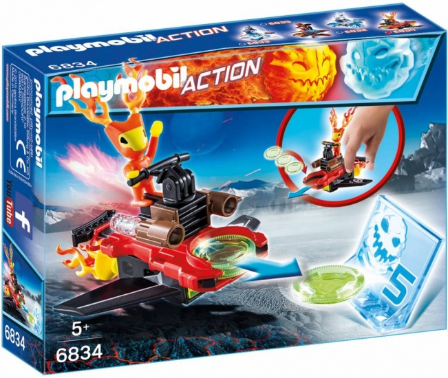 PLAYMOBIL Action: Sparky Met Disc Shooter (6834)