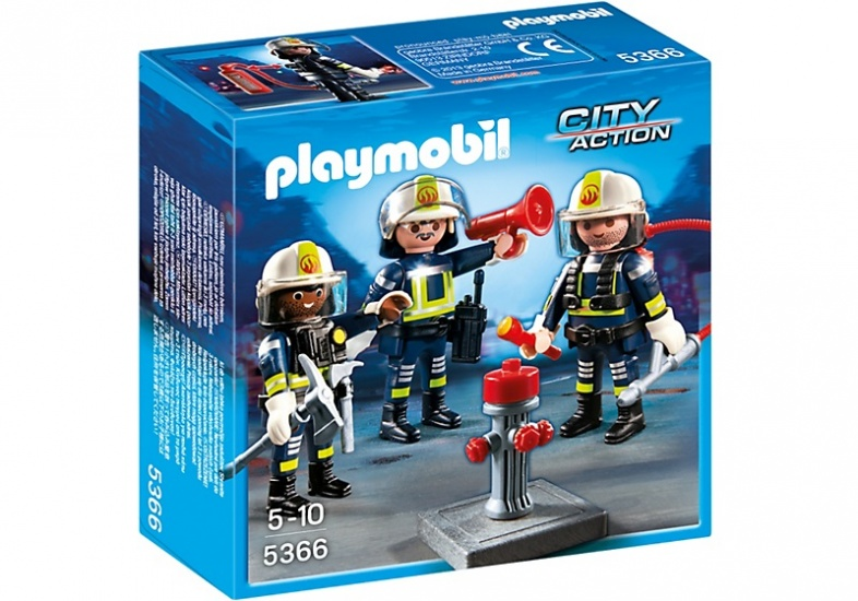 PLAYMOBIL City Action: 3 brandweermannen (5366)